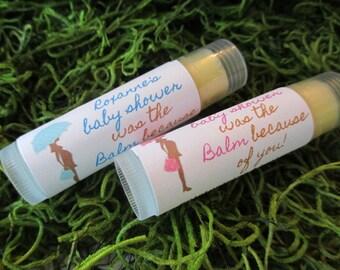 Baby Shower Lip Balm Favors Organic Lip Balm Baby Shower Favor Personalized Lip Balm Favors Custom Lip Balm Baby Shower Favor Lip Balm