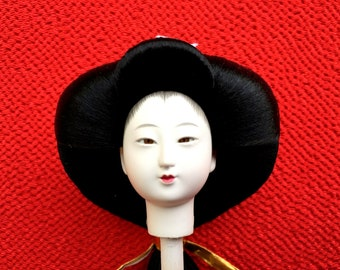 Japanese Doll Head - Hina Matsuri Female Doll Head (D8-32)
