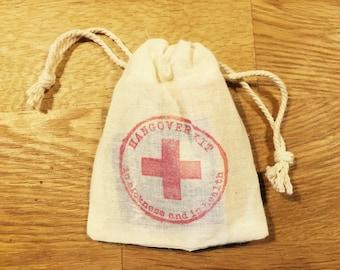 DIY Hangover Kit Bags - Bachelorette Party Favors - Survival Kit - Hangover Bag - Recovery Kit - Bachelorette Favor - Wedding Favor