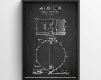 1939 Snare Drum Patent Wall Art Poster, Snare Drum Print, Drum  Patent, Instrument Poster, Home Decor, Gift Idea, MUIN11P