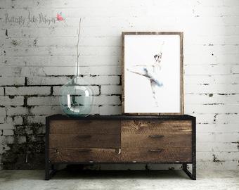 Ballerina Print  | Dance Print | wall art | Ballet wall art | Home Decor | Blue & White Ballerina | blue tutu
