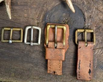 Vintage brass belt buckle, brass belt buckle, vintage belt buckle, old belt buckle, old brass belt buckle, boho supply, woodland supply