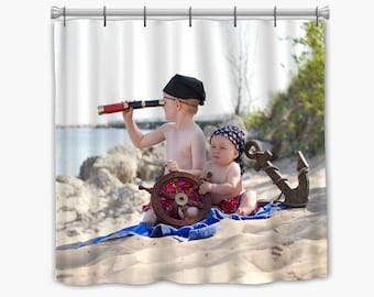 Custom Photo Shower Curtain - Your photo's either edge to edge, in a frame, or collage