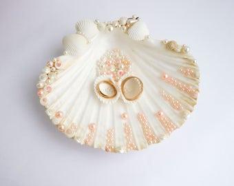 Sea shell ring holder Wedding Ring Holder Sea shell Ring