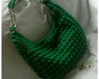 Crochet bag   ,  green bag   , bags salle  , handbag Crochet Bags . Green  crochet bag . Fashion bags . Festival Bags Chic !