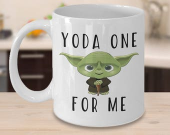yoda mug, star wars mug, yoda coffee mug, funny yoda mug, yoda one for me, yoda best mug, yoda, yoda one, yoda one for me mug,