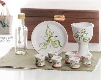 Portable Ceramic Communion Set - Trillium Small Group Set