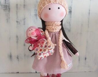 tilda doll, fabric doll handmade, rag doll, baby doll, cloth doll, creative doll, fabric doll, doll for gift, cute doll, textile doll, doll