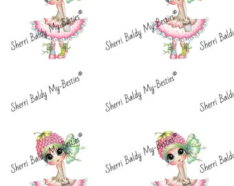 Instant Download Rasberry 3D Besties Sheet Big Head Dolls Digi By Sherri Baldy