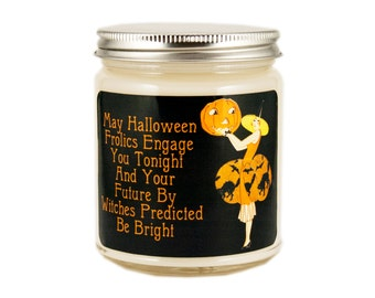 Halloween Witch Candle,  Scented Candle, Vintage Candle, Vintage Halloween Candle, Container Candle,  Halloween Decor, Vintage Halloween