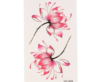 Pink Lotus Tattoo Sheet - 1 Pc