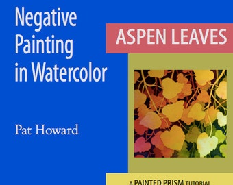 Watercolor Painting Tutorial PDF - Negative Painting of Aspen Leaves
