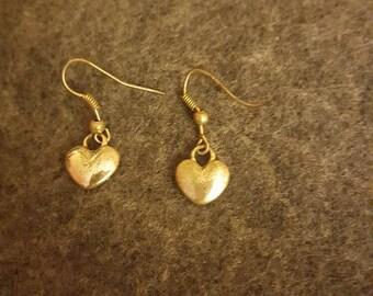 Solid silver heart earrings