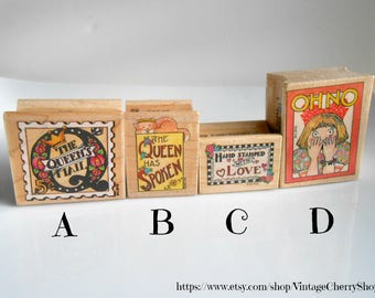 Mary Engelbreit Rubber Stamps - Rubber Stamp - Vintage Rubber Stamps - Mary Englebreit Stamps - Cherry Chick - Stamping - All Night Media