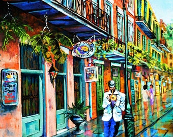 Jazz On The Street, New Orleans Jazz, New Orleans French Quarter Art, New