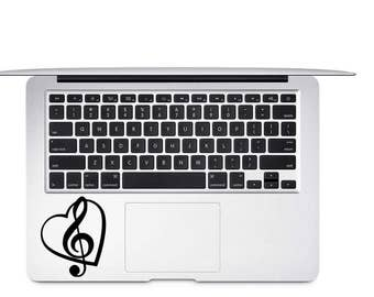 Treble Clef Decal, Music Note Decal, Music Decal, Vinyl Decal