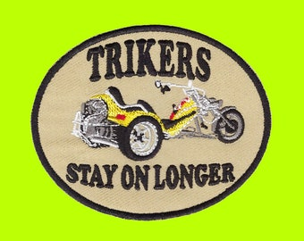 Trikers stay on longer Embroidered Cloth Iron On Patches