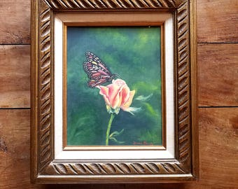 Butterfly Painting by Donna Morris, Oil on Canvas, Butterfly Art, Butterfly Painting, Modern Art