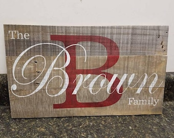 Custom Name Wood Sign,Last Name Sign,  Personalized Wood Sign, Wedding Gift Sign, Established Date Family Sign, Anniversary Gift, Rustic