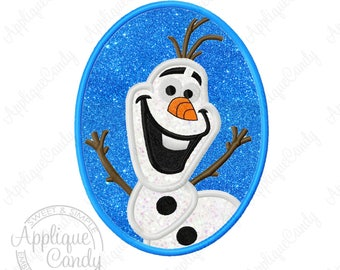 Frozen Snowman Cameo Applique Machine Embroidery Design 4x4 5x7 6x10 Olaf INSTANT DOWNLOAD