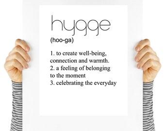 hygge, hygge poster, danish quote, Scandinavian living, digital download, typography, art print,  wall art, quote,