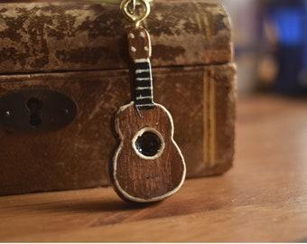 Wooden ukulele Necklace,handmade