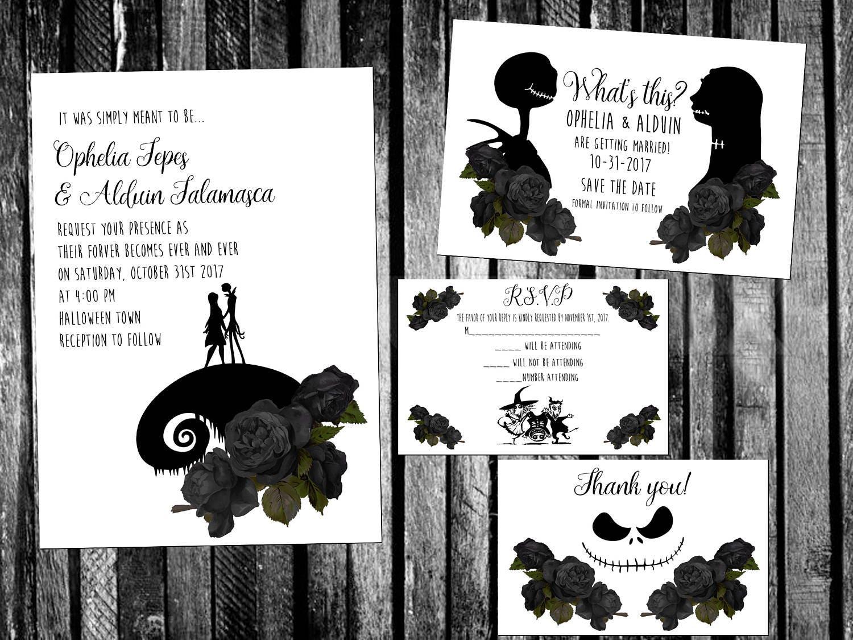 Awesome Tim Burton Wedding Invitations Component - Invitation Card ...
