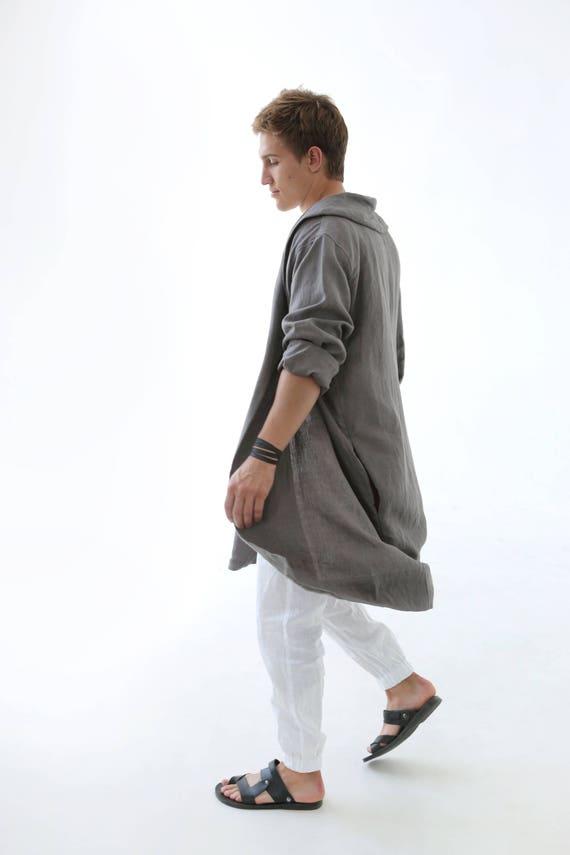 for Trousers Man's Linen him for Man Gift set set White meditation Set Linen t for shirt Linen party White men set kit qYYZftPx