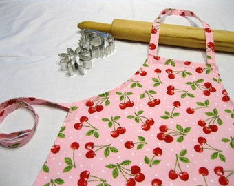 Retro Cherry Child Apron