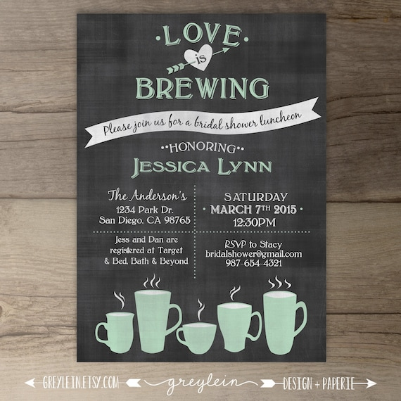Love Is Brewing Bridal Shower Wedding / Engagement Party
