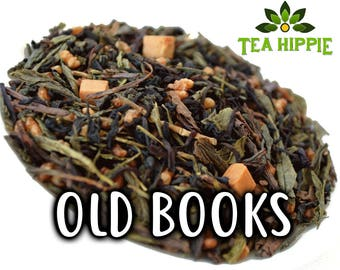 50g Old Books - Loose Green+Black Tea -