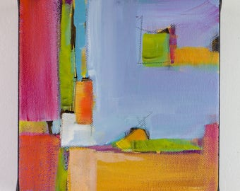"Original abstract acrylic painting on cavas, handmade art, wall art, one of a kind art, colorful art, bold art, ""ABS6 606"""