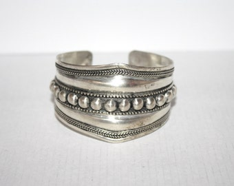 Boho bracelet, Silver Bracelet, Tribal Bracelet, Gypsy bracelet, silver jewelry, Hippie Bracelet, Tibetan bracelet, statement bracelet