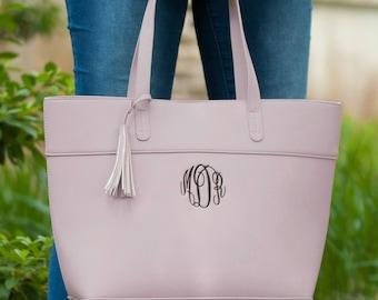 Aubrey Handbag-Blush Handbag-Monogrammed Handbag-Tassel Purse-Pink Purse-Monogrammed Purse-Handbag Purse-Monogrammed Handbag-Tassel Handbag