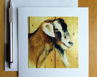 Goat Note Card, Farm Note Card, Farm Animal Cards, Goats, Country Note Cards, Notecards, Stationery, Animal Note Cards, Blank Cards, Cards
