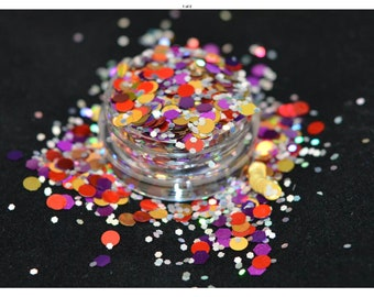 Cosmetic grade glitter for nail art, beauty and craft - royal mix