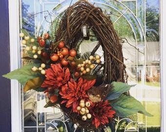 Oval Bird's Nest Wreath