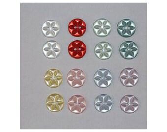 160 x buttons basic 14 mm Star 2 holes set J *-000851