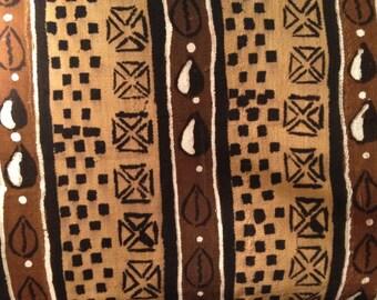 Large African Mud Cloth Bogalonfini Mali Fabric FREE SHIPPING!!