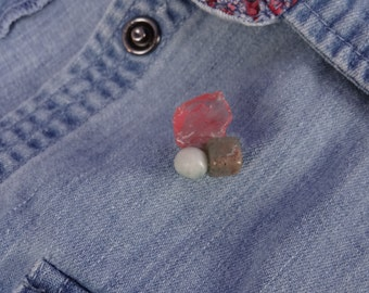 Rock Pin - Mineral Pin. #2 (Lapel pin)