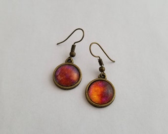 Abstract hand painted earrings