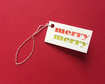 Merry Merry Gift Tags - 5pk