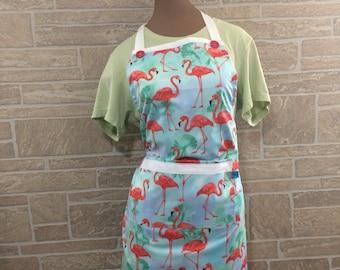 Flamingo apron 3-in-1 apron Pink flamingo apron Party apron