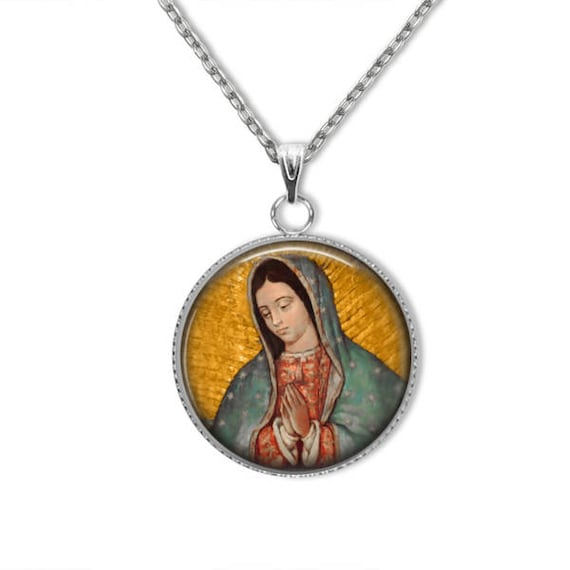 Our Lady of Guadalupe Necklace,  Stainless Steel Pendant
