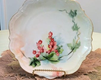 Carl Tielsch (CT) Germany Porcelain Plate with Berries