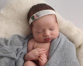Lucia, Baby Headband, Newborn Photo Prop, Baby Girl Headband, Newborn Headband, Headband, Flower Headband, Newborn Props, Baby Headbands