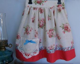 Girl's Size 6 Skirt, Upcycled Skirt size 6, Vintage size 6 Skirt
