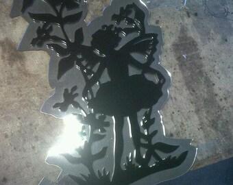 fairy silhouette mirrored