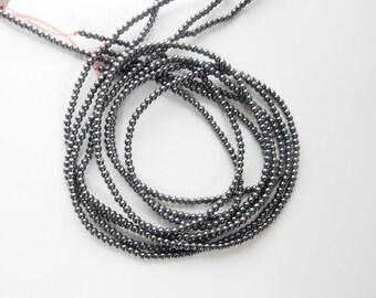 2mm Hematite  round beads , FULL STRAND (16 inches)