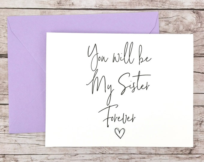 You Will Be My Sister Forever Card (FPS0061)